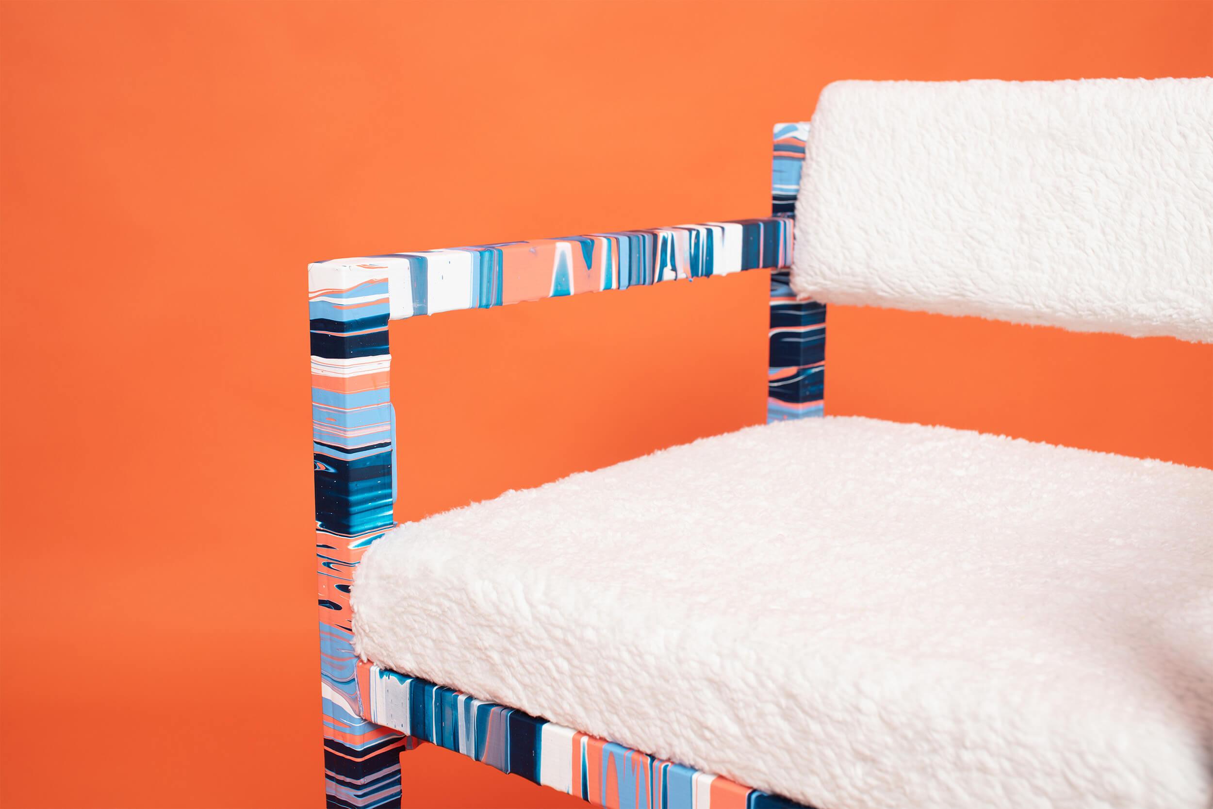 Craig Black x Dave Watson_Acrylic Fusion_JOY Chair_Typography